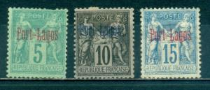 French Offices In Turkey - Port Lagos #1-3  Mint H  CV$17...