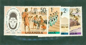 UGANDA 163-166 BIN$ 1.50