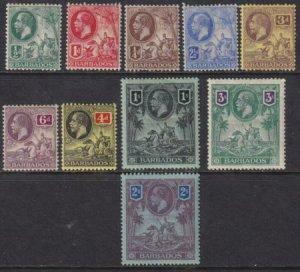 Barbados 1912 SC 116-126 Mint SCV $259.00 Set