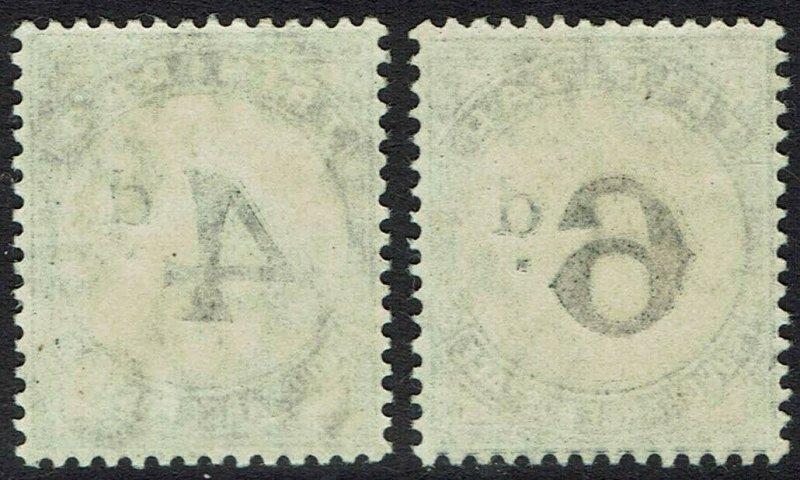 TRINIDAD 1905 POSTAGE DUE 4D AND 6D WMK MULTI CROWN CA