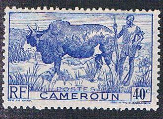 Cameroun 306 MLH Zebu and herder (BP641)