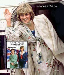 Z08 ST190301b Sao Tome and Principe 2019 Princess Diana MNH ** Postfrisch