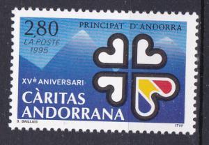 Andorra-French 450 MNH 1995 Caritas in Andorra Anniv.