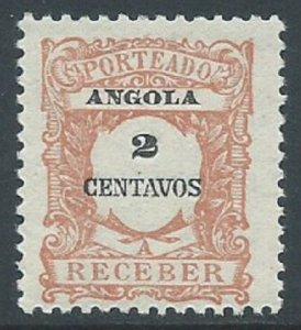 Angola, Sc #J23, 2c MH
