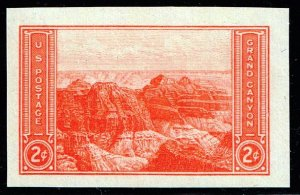 US STAMP #757 – 1935 2c National Parks: Grand Canyon, imperf, MNH SUPERB