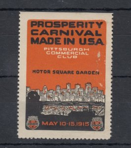 USA 1915 Pittsburgh Prosperity Carnival Poster Stamp MLH J9081