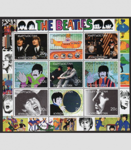 Kyrgyzstan 2000 THE BEATLES Sheet Perforated Mint (NH)