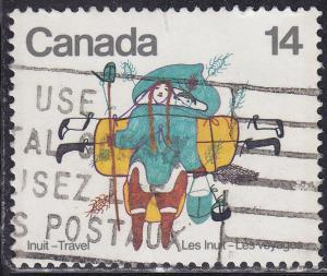 Canada 769 USED 1978 Inuit Indian Travel, Art 14¢