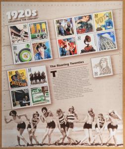 1998 sheet Celebrate the Century 1920s Sc# 3184