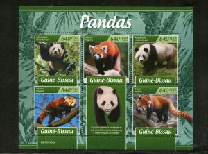 GUINEA BISSAU 2019 PANDAS SHEET MINT NEVER HINGED