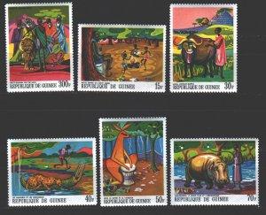 Guinea. 1968. 480-85. Legends of guinea. MNH.