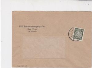 German Democratic Republic 1959 Suhl Cancel Official Stamps Cover Ref 24390