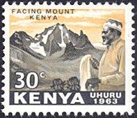 Kenya # 5 mnh ~ 30¢ Jomo Kenyatta Facing Mt. Kenya