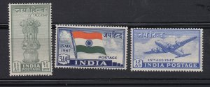 J28324 1947 india set mh #200-2 designs