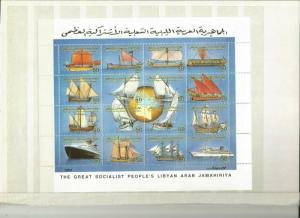 LIBYA 1993 SHIPS SCOTT 1479 MNH