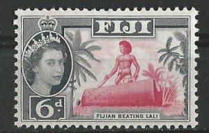 Fiji # 168   Drum Beating   6d.  (1) Mint NH