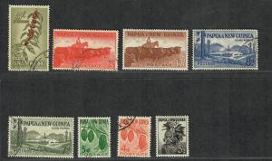 Papua New Guinea Sc#139-146 M+U/H/VF, Complete Set, Cv. $44.25