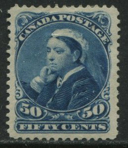 1893 Canada QV 50 cents blue Widow Weeds mint o.g. heavy hinged