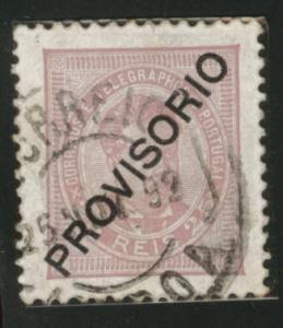 Portugal Scott 84 King Luiz 25 Reis Provisiorio CV $5 1893
