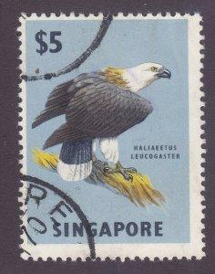 Singapore 69 Used 1963 $5 White-Tailed Sea Eagle Set KEY