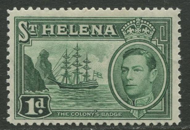 St.Helena - Scott 119 - KGVI Definitive -1938 - MVLH - Single 1p Stamp