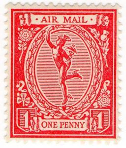 (I.B) George V Cinderella : Mercury Air Mail Essay 1d