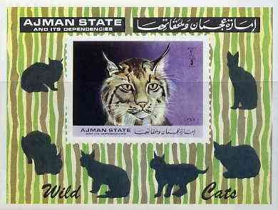 Ajman MNH S/S Wild Cats 1972