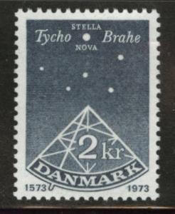 DENMARK  Scott 524 MNH** 1973 2kr stamp