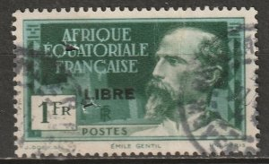French Equatorial Africa 1941 Sc 108 used