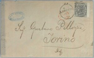 82207 - GB - Postal History -  SG # 147 (probably) on COVER to ITALY 1874