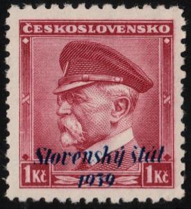 ✔️ SLOVAKIA 1939 - SLOVENSKY STAT OVERPRINT - SC.12 MNH OG [SK0012]