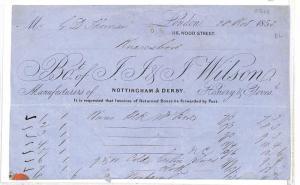 GB Cover EL *Hosiery & Gloves* Manufacturers  Knaresborough Entire 1853 BD121