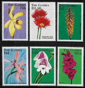 Gambia #2030-5 MNH Set - Flowers