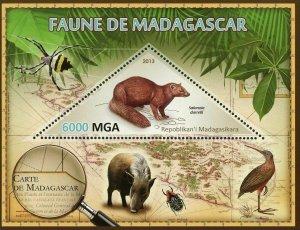 Madagascar Fauna Wild Animal Salanoia Durrelli Souvenir Sheet Mint NH