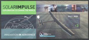 2016 ISLE OF MAN - SG:MS 2166 - SOLAR IMPULSE FLIGHT - UNMOUNTED MINT