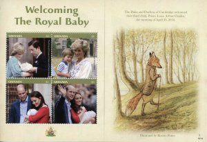 Grenada 2019 MNH Prince Louis Royal Baby William & Kate 4v M/S Royalty Stamps