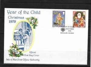 O) 1979 ISLE OF MAN, CHRISTMAS - YEAR OF DE CHILD, FDC XF