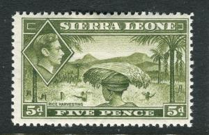SIERRA LEONE; 1938 early GVI issue fine Mint hinged 5d. value