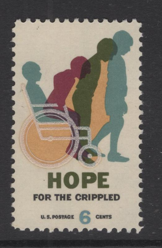 US 1969 Hope for the Crippled 6c Stamp Scott 1385 MNH