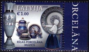 LATVIA 2021-13 ART: Pocelain Museum of Riga, MNH