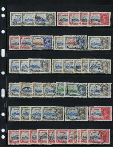 1935 GEORGE V SILVER JUBILEE- 85 STAMPS (19 COLONIES+DUPLICATIONS) ALL USED.
