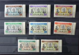 ALBANIA-UNISSUED PROPAGANDA STAMPS (MNH)-FULL SET R! albanien usa gb uk M5