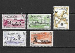 ASCENSION ISLAND - 1979 EASTERN TELEGRAPH COMPANY - SCOTT 242 TO 246 - MNH