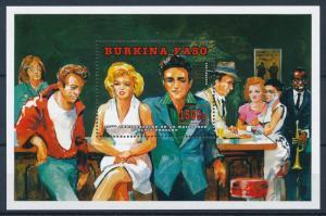 [95012] Burkina Faso 1995 Music Elvis Presley Marilyn Monroe Sheet MNH