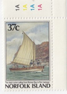 Norfolk Island, Sc 428, MNH, 1987, Cutter from Bottney Bay