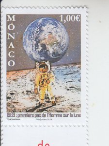 2019 Monaco First Moon Landing (Scott 2982) MNH
