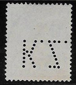 Germany, Germania, SC 66, used, perfin, ng