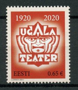 Estonia Performing Arts Stamps 2020 MNH Ugala Theatre Theatres Drama 1v Set