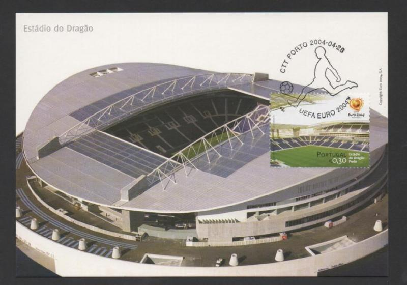 MAXIMUM CARD PORTUGAL EURO 2004 SOCCER STADIUM DRAGÃO FCP PORTO FOOTBALL