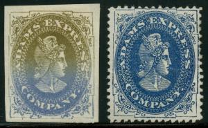 ADAMS EXPRESS Co. STAMPS -- PROOF & ESSAY -- BT9638